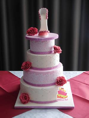 sweet sixteen cake - Cake by Liliana Vega