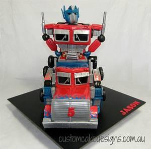 Optimus Prime Transformer Cake - Cake by Custom Cake Designs