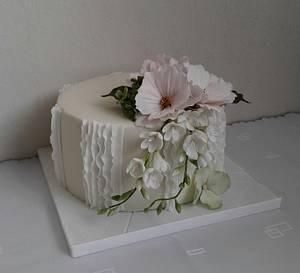 Wedding with flowers - Cake by Anka