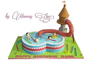 Pool Party Cake - Cake by Mommy Sue