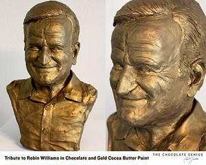 Chocolate Tribute to Robin Williams - Cake by Paul Joachim