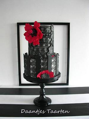 Black lace - Cake by Daantje