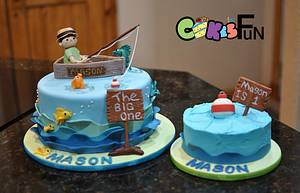 First Birthday Fishing Cake - Cake by Cakes For Fun