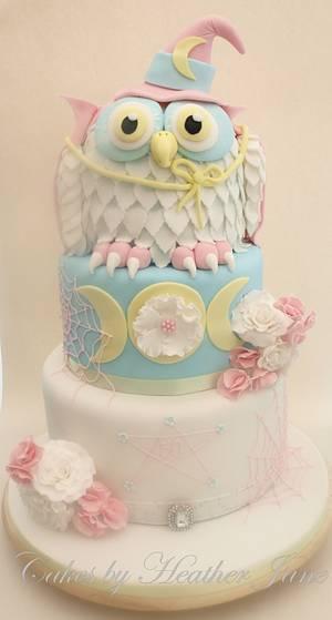 Witch Owl Birthday cake - Cake by Cakes By Heather Jane