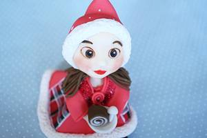 Christmas cute girl - Cake by fantasticake by mihyun
