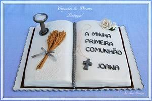 JOANA 1 HOLY COMMUNION - Cake by Ana Remígio - CUPCAKES & DREAMS Portugal