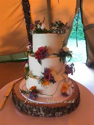 Buttercream wedding cake - Cake by Penny Sue