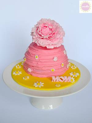 Mother's Day Peony Cake - Cake by miettes