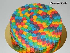 Rainbow cake - Cake by alexandravasile