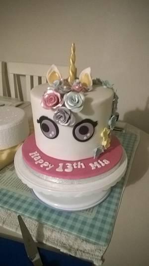 Unicorn cake - Cake by Combe Cakes