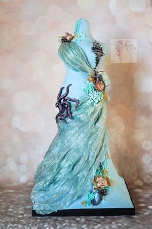 Avant-Garde Collaboration Sea Goddess - Cake by Jenny Kennedy Jenny's Haute Cakes
