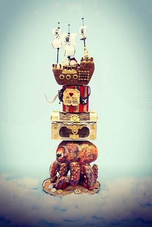 Pirates theme Modern Wedding Cake!!!  - Cake by GorgeousCakesBLR