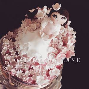 Pretty Pink For Yasmine - Cake by Laura Lane