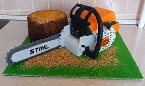 Stihl chainsaw cake - Cake by Dóri