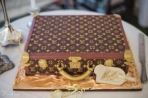 Louis Vuitton Suitcase wedding cake  - Cake by MJ'S Cakes
