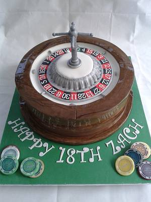 Roulette Wheel Cake with Chips - Cake by Laras Theme Cakes