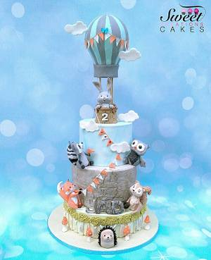 Cute woodland animals  cake - Cake by Sweet Creations Cakes