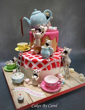 Teapot & Teddies Silver Award - Cake by Carol