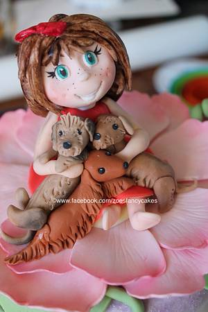 little girl and her sausage dogs! - Cake by Zoe's Fancy Cakes