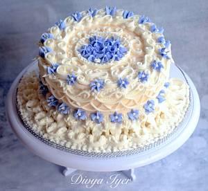 Lambeth designed  cake  - Cake by Divya iyer