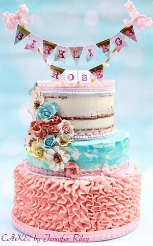 Baby Shower Cake/Cupcakes Cakepops - Cake by Cake! By Jennifer Riley
