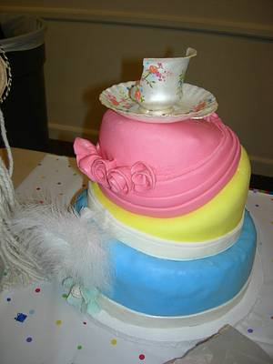 Topsy Turvy Vintage Hat Cake - Cake by Deanna Dunn
