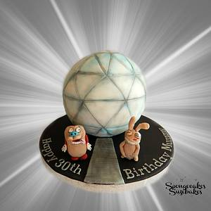 30th Crystal maze and Ren & Stimpy cake! - Cake by Spongecakes Suzebakes