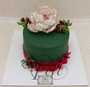 Peony Christmas - Cake by Teté Cakes Design