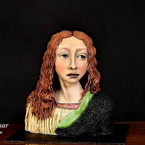 "Leonardo Da Vinci ""head of the saviour"" - Cake by Ebru Anar"
