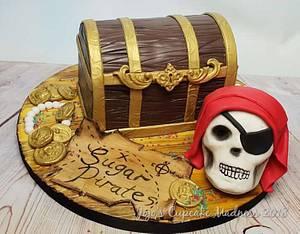 Pirate Treasure Chest - Sugar Pirates Collaboration  - Cake by JojosCupcakeMadness