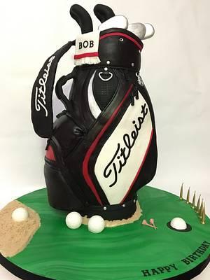 Golf bag cake - Cake by The Cake Mamba