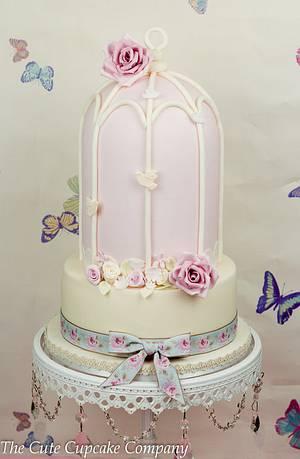 Vintage birdcage wedding cake - Cake by Paula