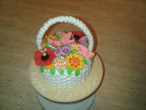 Basket of flowers - Cake by Cake Love