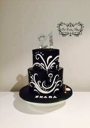 21st Black Funfetti - Cake by Edelcita Griffin (The Pretty Nifty)