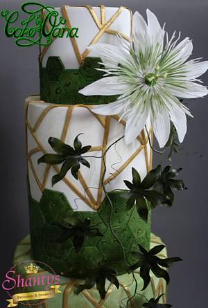 Geometrical  Weddingcake - Cake by cakesbyoana