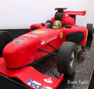 F1 race car - Cake by ReemFadelCakes
