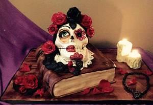 Día de los muertos cake  - Cake by DulcesSuenosConil