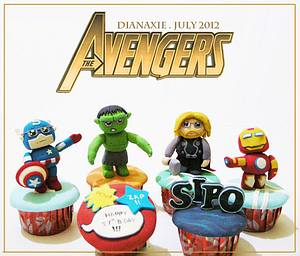 The Avengers - Cake by Diana