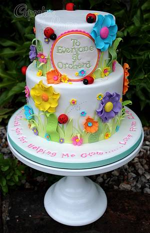 Thank you cake - Thank you for helping me grow........ - Cake by CupcakesbyLouise