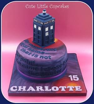 Tardis Birthday Cake - Cake by Heidi Stone