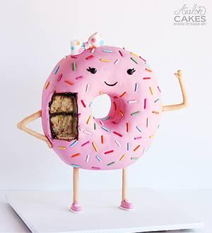 Darlene, the Donut Cake - Cake by Avalon Cakes School of Sugar Art