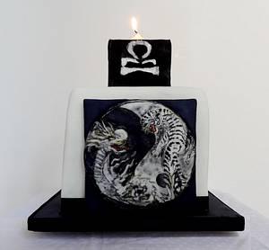 Libra Yin & Yang - Cake by Fifi's Cakes
