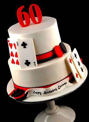 60th Casino Cake - Cake by Zelicious