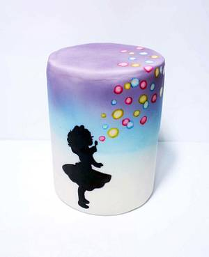 bubble girl cake - Cake by fantasticake by mihyun