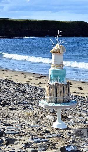 Beach wedding cake - Cake by Karen Keaney