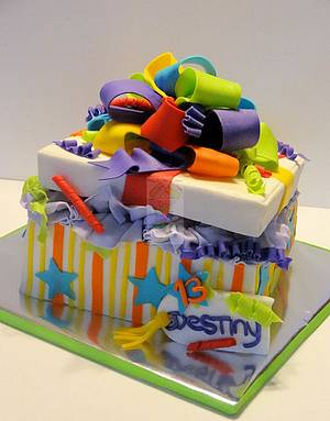 Gift Box Cake - Cake by Yari