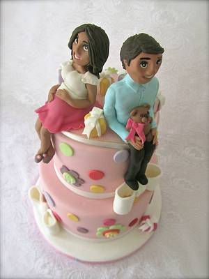 Baby Shower toppers - Cake by Bizcocho Pastries