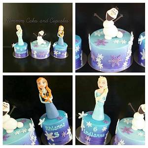 Frozen Trio! - Cake by Mmmm cakes and cupcakes