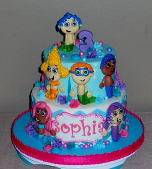 Sophia's BubbleGuppies - Cake by Pamela Sampson Cakes