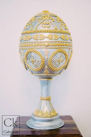 Faberge Inspired Egg for Cake Masters Magazine - Cake by Natasha Shomali